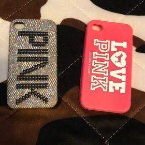 2 PINK Victoria's Secret iPhone 4, Cases